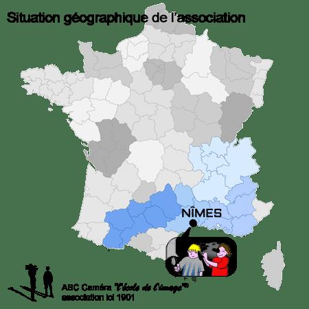 """Situation géographique ABC Caméra """"l'école de l'image""""®"""